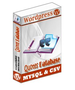 Wordpress Quotes Database